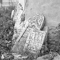Jewish Tombstones in Medzhibozh, Ukraine, 1988