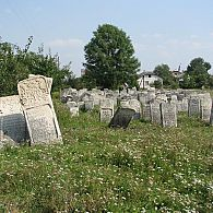 General view of the cemetery in Burshtyn