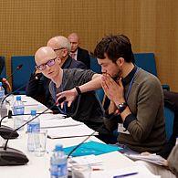 Prof. Maciej Gorny and Jan Rybak