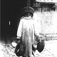Woman with pots, Samarkand, 1935