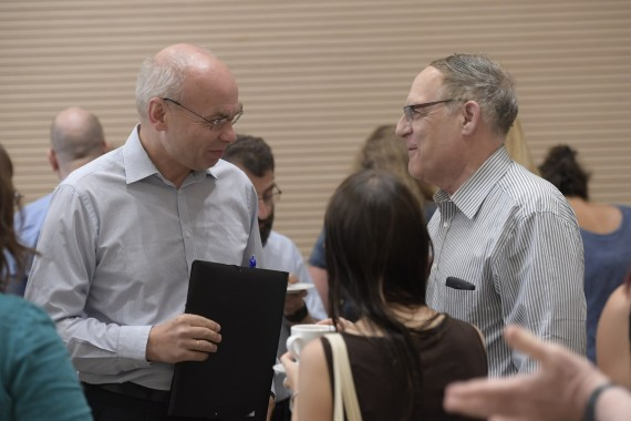 Dariusz Stola and David Engel at the Forum Alumni Conference